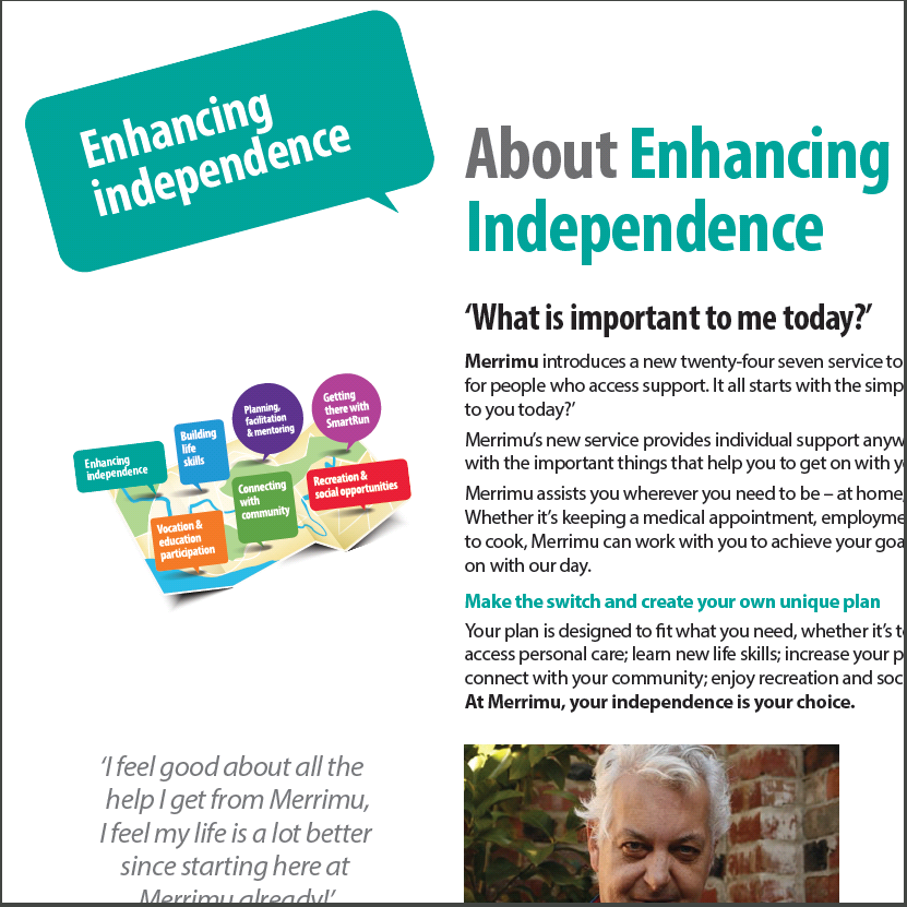 Enhancing Independence Fact Sheet